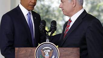 Barack Obama (l) und Benjamin Netanjahu in Washington