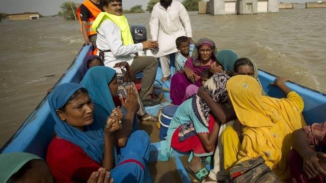 Einwohner von Thatta sind auf der Flucht