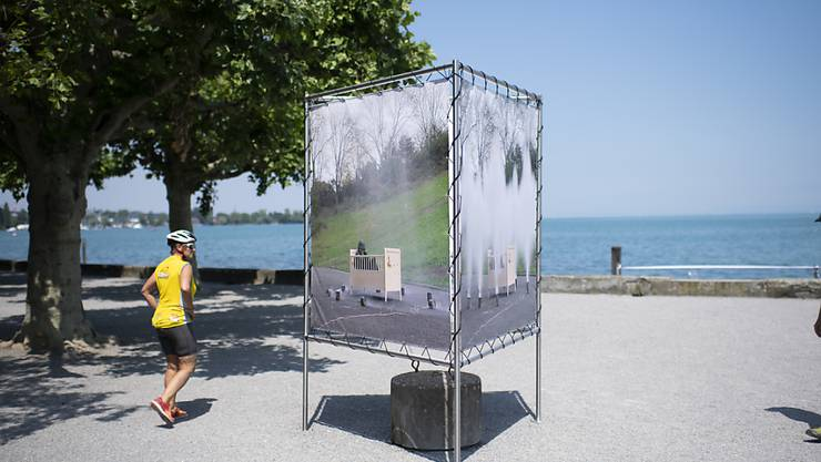Ort der Inspiration: Fünf Videostills des Ostschweizer Konzeptkünstler Roman Signer sind bis 20. Oktober vor dem Rorschacher Kornhaus zu sehen.