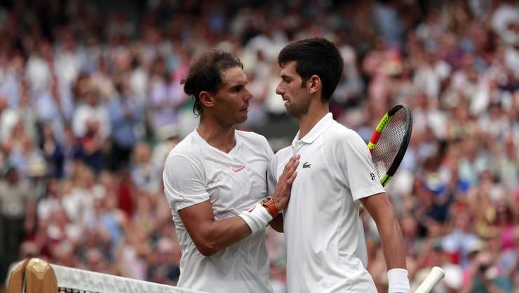 Gigantenduell: Novak Djokovic und Rafael Nadal treffen im Final von Rom wieder aufeinander.