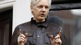 Die CIA liess Wikileaks-Gründer Julian Assange in seinem Londoner Botschaftsexil ausspionieren.(Archivbild)