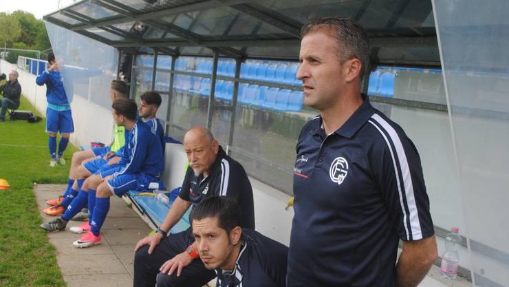 Grenchens Trainer Perparim Redzepi erlitt mit seinem Team die zweite Heimniederlage in Folge.