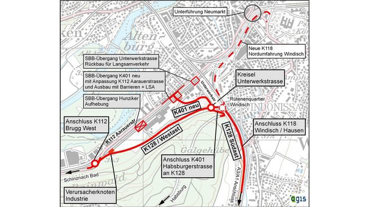 Mit der Südwestumfahrung kann der Durchgangsverkehr zum Autobahnanschluss geführt werden.