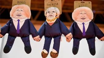Zum Hunde-Spielzeug wie hier in einem Laden in Birmingham sind Theresa May und Boris Johnson noch nicht geworden – in der Krise stecken die Tories allemal.