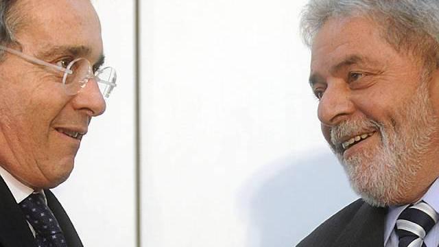Alvaro Uribe und Lula da Silva