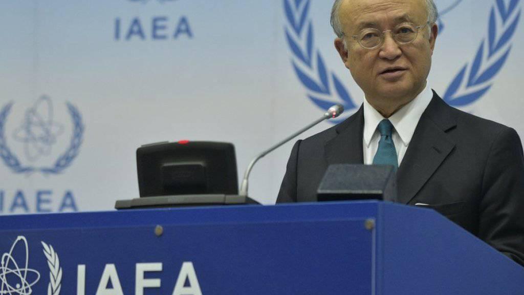 IAEA-Chef Yukiya Amano - seine Behörde benötigt offenbar 9,2 Millionen Euro pro Jahr für zusätzliche Kontrollen im Iran (Archiv)