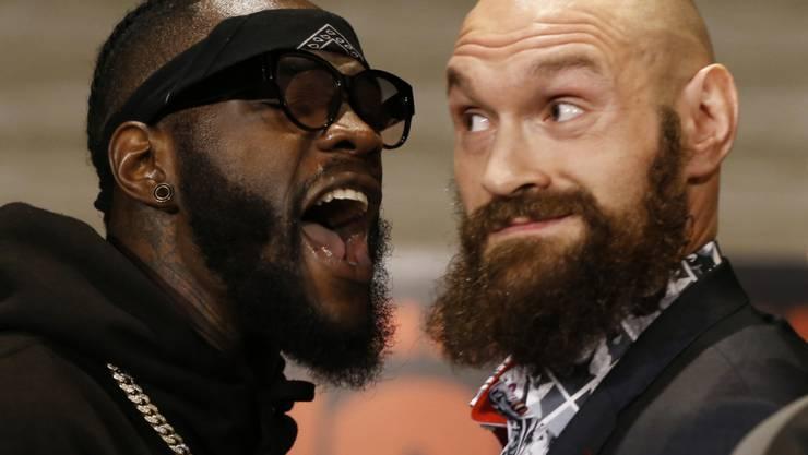 Ex-Champion Tyson Fury (rechts) will Deontay Wilder (links) den WBC-WM-Titel im Schwergewicht entreissen