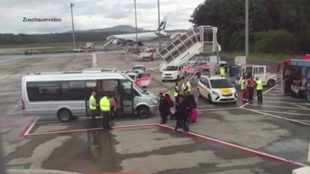 Unfall am Flughafen Zürich