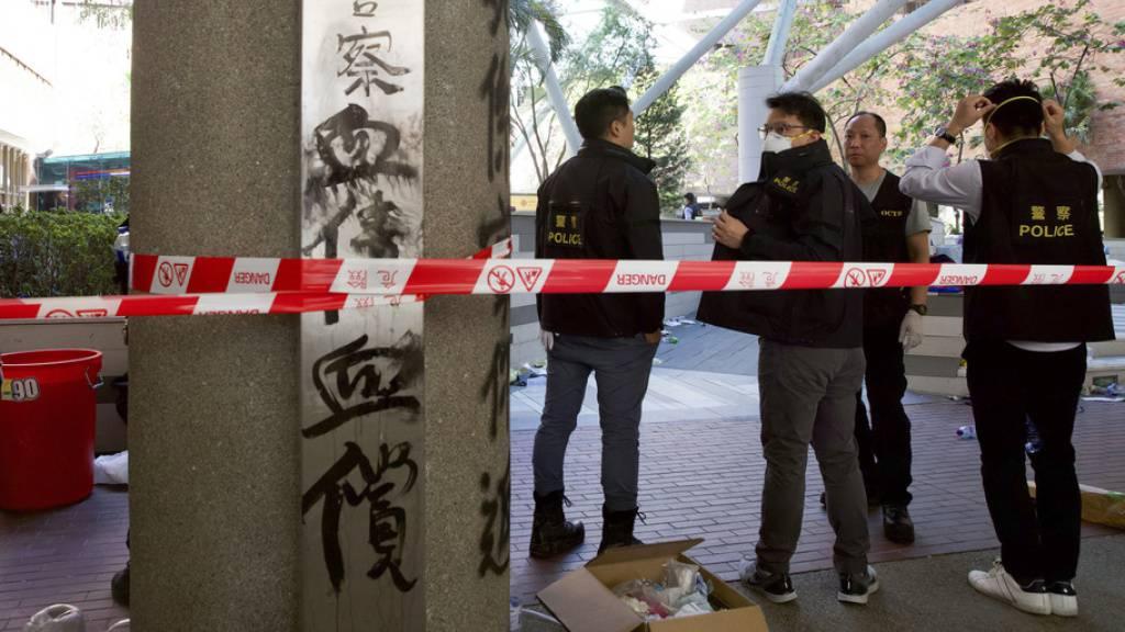 Polizei in Hongkong dringt in Polytechnische Universität vor