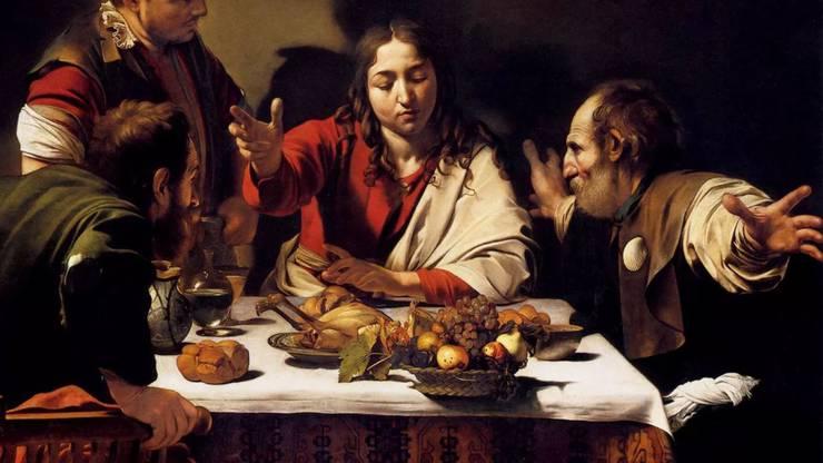 «Abendmahl in Emmaus», Gemälde von Caravaggio (1606)