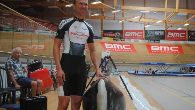 Alain Hinzen ging zuversichtlich auf die Weltrekordfahrt
