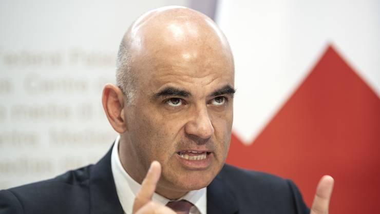 Gesundheitsminister Berset und seine Bundesratskollegen haben am Freitag den nächsten Lockerungsschritt beschlossen.