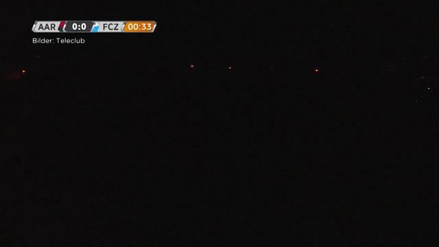 März: Stromausfall auf dem Fussballplatz