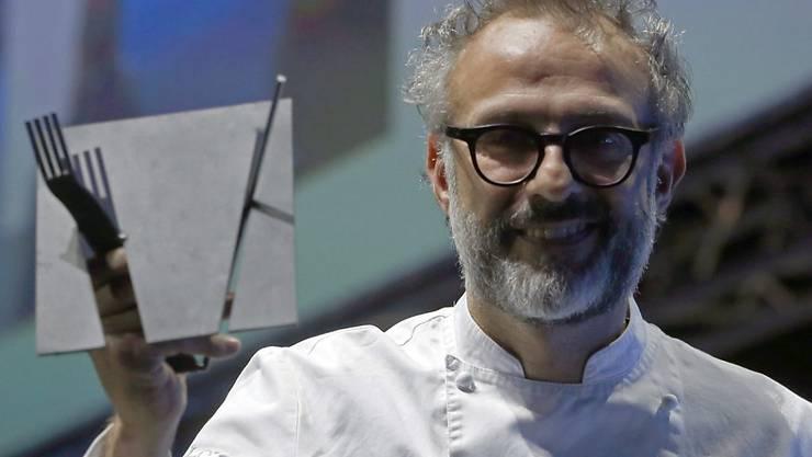 """Hat sich in Modena an die Weltspitze gekocht: Massimo Bottura mit seinem Restaurant """"Osteria Francescana"""". (Archivbild)"""