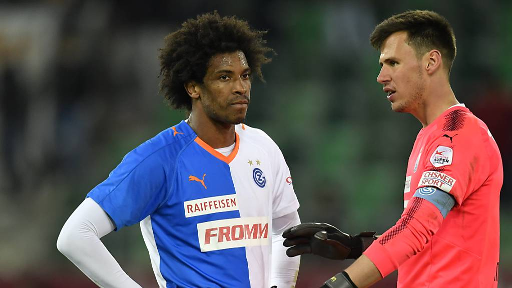 Caiuby, hier bei den  Grasshoppers mit Goalie Heinz Lindner