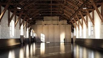 So soll der 2000 Quadratmeter messende Innenraum der «Alten Reithalle» aussehen. Hinten die Beton-Einbauten mit den Toiletten und Garderoben.Barão-Hutter.Atelier