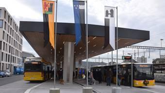 Das neue Busterminal in Brugg ist eröffnet