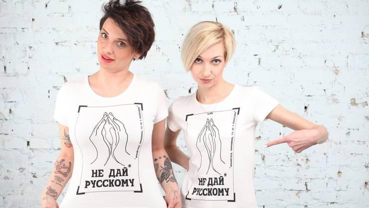 «Du musst den Feind mit allen Mitteln bekämpfen» sagen die Aktivistinnen von «Don't give it to a Russian» auf Facebook.