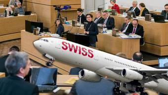 Die Standesinitiative verlangte, dass sich der Aargau für eine Flugticketabgabe einsetzt.