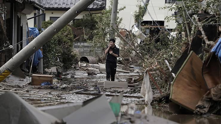 """Trotz verheerenden Wirbelstürmen wie dem Taifun """"Hagibis"""" in Japan sind die weltweiten Katastrophenschäden im laufenden Jahr markant kleiner ausgefallen als 2018. (Archiv)"""