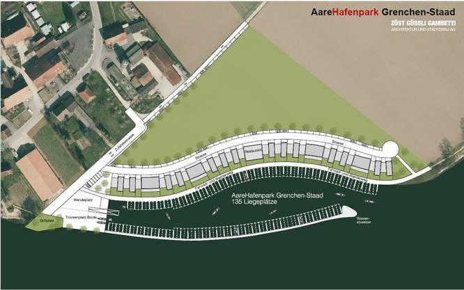 Anordnung der Bauten und des Hafens