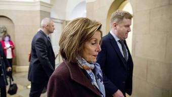 """""""Er hat uns keine Wahl gelassen"""": Nancy Pelosi, Speakerin des Repräsentantenhauses auf dem Weg zur Verhandlung über die Aufnahme eines Amtsenthebungsverfahrens gegen US-Präsident Donald Trump."""