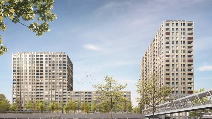Neben dem Shoppi Tivoli entstehen 438 Wohnungen und eine Haltestelle der Limmattalbahn.