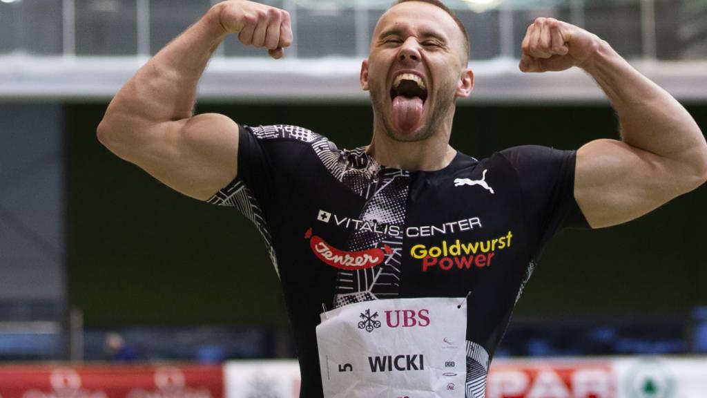 Geschafft: Silvan Wicki freut sich über den Schweizer Rekord.