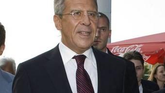 Geht auf die syrische Opposition zu: Russlands Aussenminister Lawrow (Archiv)