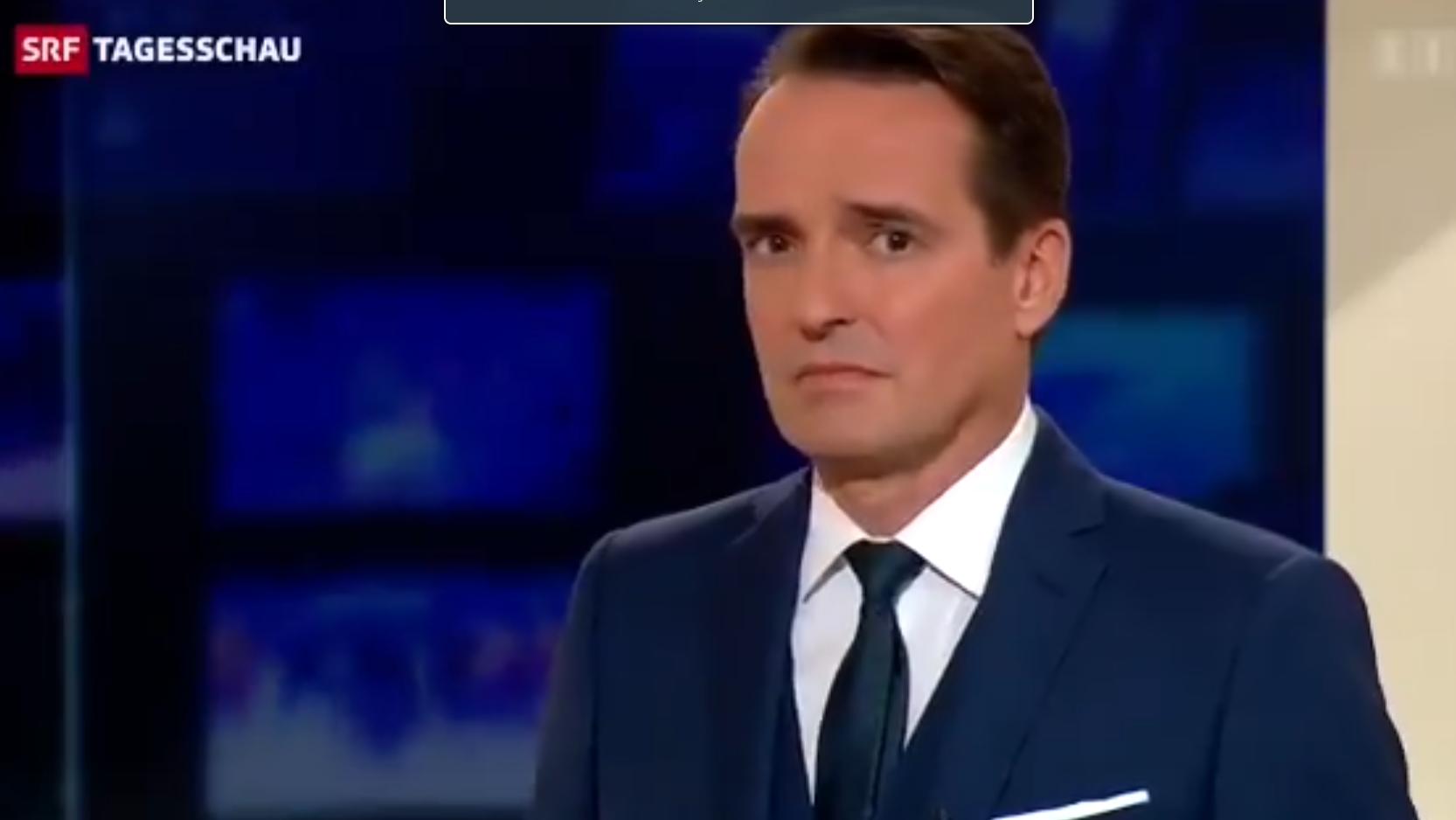Da guckt Moderator Florian Inhauser dumm aus der Wäsche.
