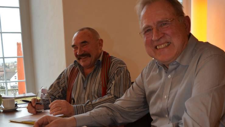 Projektleiter Beni Kreuzer (links) und der Präsident des Vereins Erlebnis Freiamt, Erich Näf, sind guter Dinge, was die Zukunft angeht. ES