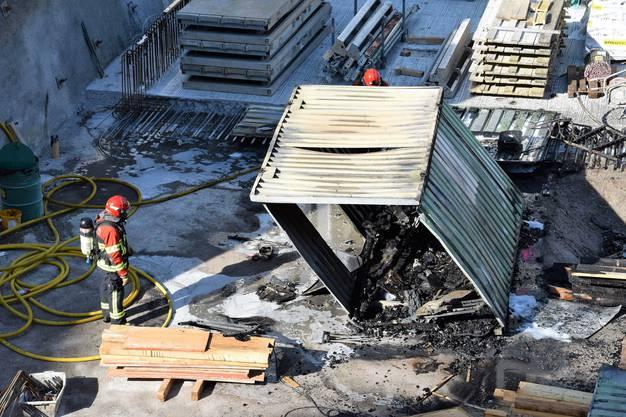 """Am Donnerstagabend ist auf der """"Centurion Tower""""-Baustelle in Windisch ein Feuer ausgebrochen"""