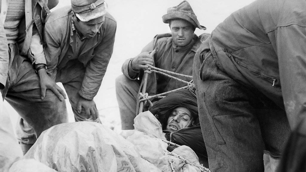 Der Italiener Claudio Corti wurde 1957 als erster Mensch aus der Eigernordwand gerettet. Er überlebte als einziger einer Viererseilschaft.