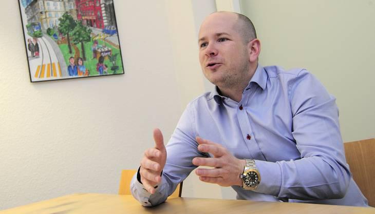 Mathias F. Böhm, Geschäftsführer von Pro Innerstadt, sagt der Freien Strasse eine positive Zukunft voraus. (Archiv)