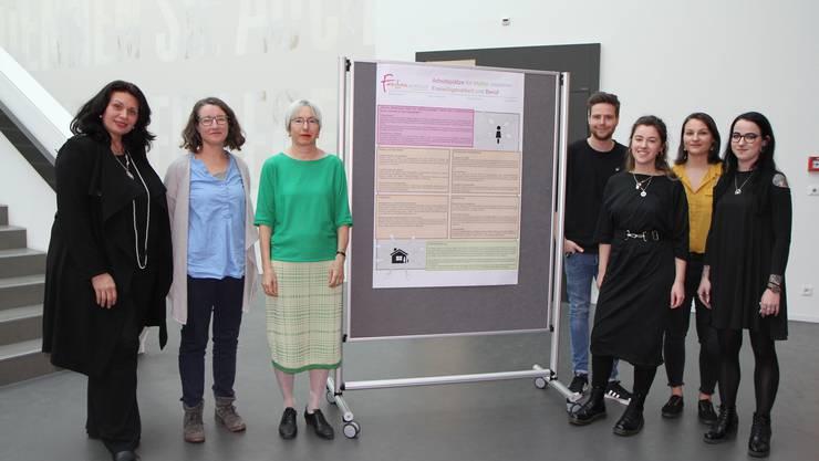Die Studenten und ihre gezeigten Projekte