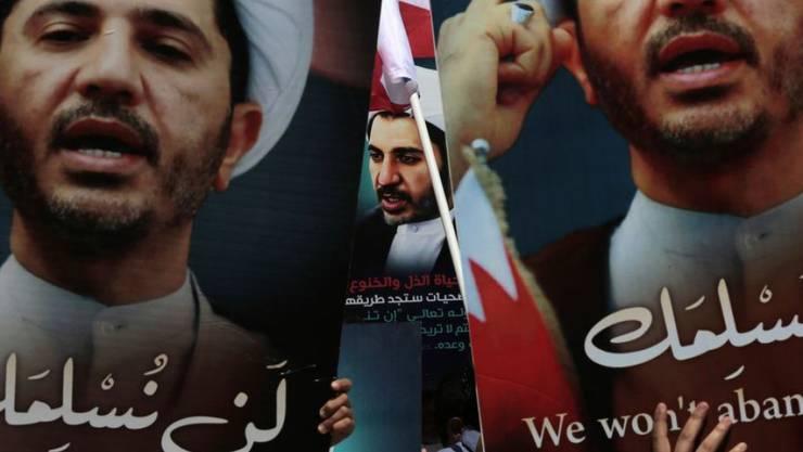 Demonstration für die Freilassung von Oppositionsführer Scheich Ali Salman in Diraz in Bahrain. (Archivbild)