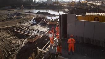 Hochwasserschutz an der Emme im Februar 2019