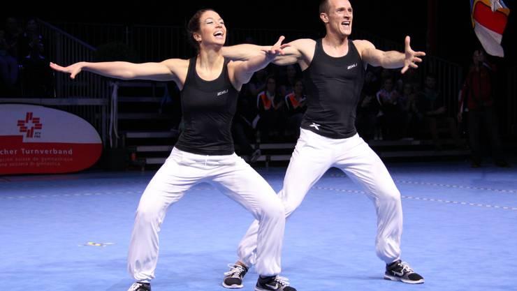 Ramona Probst und Michel Anken (Laupersdorf/Niederbuchsiten) starten in der Kategorie Paare.