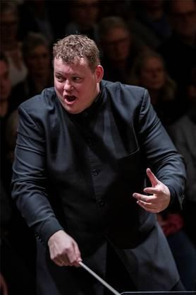 Kolossale Erscheinung: Dirigent Rune Bergmann macht jedes Konzert zu einem Erlebnis.