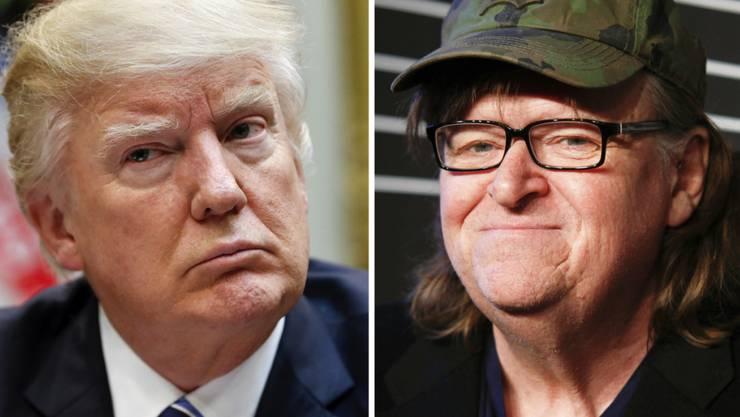 Der Filmemacher Michael Moore plant einen Dokumentarfilm über den neuen US-Präsidenten Donald Trump. (Archivbilder)
