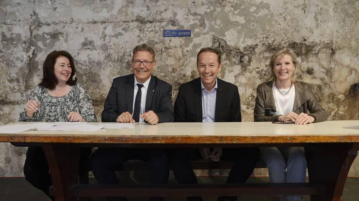 (V.l.) Jasmine Huber, Roland Fürst, Markus Mettlerund Brigit Wyss