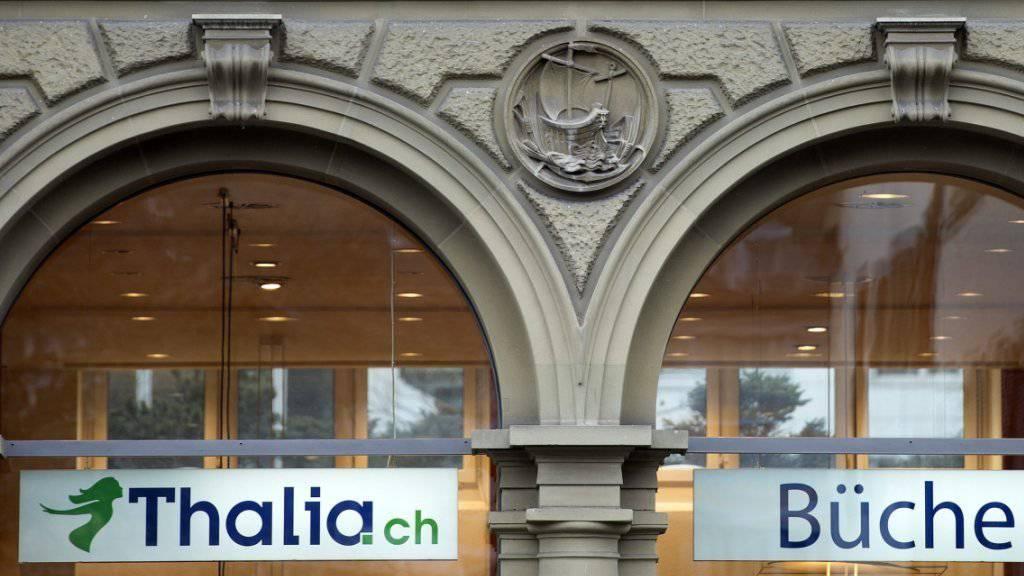 Das blau-grüne Logo der Marke Thalia wird aus den Schweizer Einkaufszonen verschwinden (Archiv).