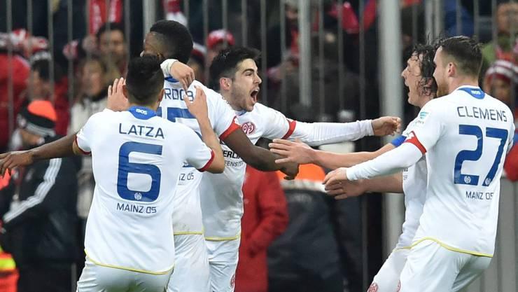 Eine Sensation: Mainz gewinnt bei den Bayern mit 2:1.