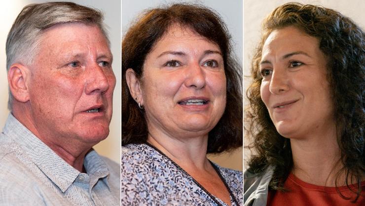 Kandidieren für das Friedensrichteramt: Adrian Leimgrübler (parteilos), Janine Martí-Matt (parteilos) und Songül Viridén (GLP).
