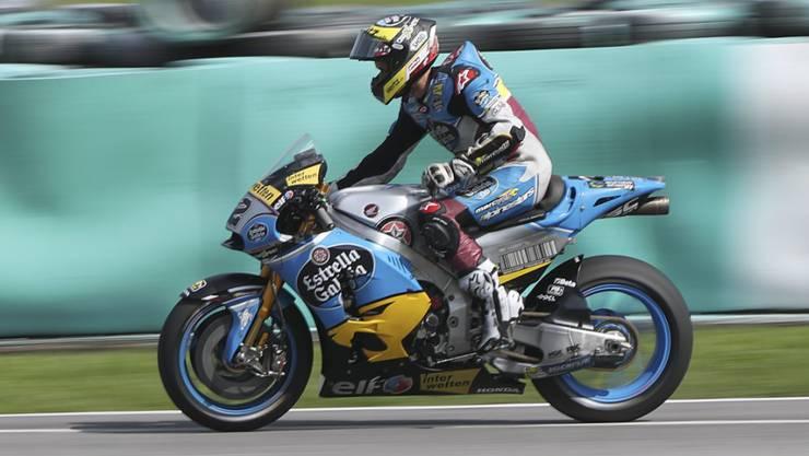 Tom Lüthi tastet sich auf seiner neuen MotoGP-Maschine langsam heran