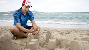 Das etwas andere Sommertraining des Carlo Janka auf Mallorca.