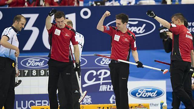 Die Schweizer Curler können sich freuen: WM-Bronze!