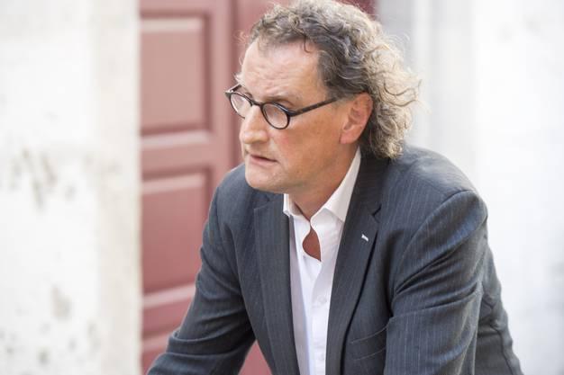 Geri Müller nach der Stadtratssitzung - die Ressorts hat er nicht zurückerhalten.