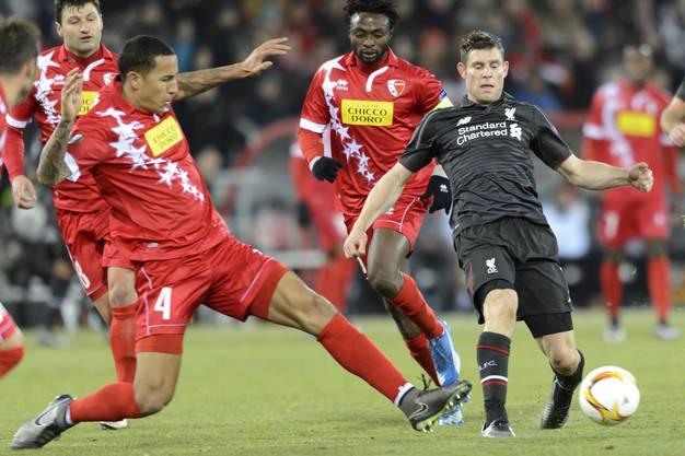 Die Liverpool-Spieler genossen gegen ein aufsässiges und hartnäckiges Sion kaum Freiräume.