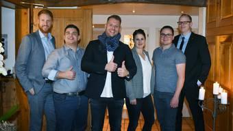 Von links nach rechts: Stefan Haldemann (neuer Vizepräsident), Martin Glauser (Kassier), Thomas Stalder (neuer Präsident), Heidi Bärtschi (Kommunikation), Raphael Koch (Aktuar) und Stefan Winterberger (past Präsident).